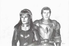 Die beiden Agenten des Imperiums Dabrifa  haben den Auftrag die Forschungsanlagen der Terraner auf dem Saturnmond Calypso zu zerstören. Mit einem kleinen Raumschiff dringen sie in das  Solsystem ein und geraten in die Hyperfeldfront des sich aufbauenden Antitermporalen Gezeitenfeldes. Dieses Hyperphysikalische Phänomen versetzt sie in die Lage, in die Vergangenheit und Zukunft zu springen. Juki Leann bringt aus der Zukunft erschreckende Erkenntnisse mit: In der Milchstraße tobt ein Kampf zwischen den Galaktischen Völkern und einer fremden Macht: Terminus mit seinem Heimlichen Imperium ...  (C) Raimund Peter