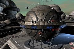 Nachdem sich der Funkkontakt nicht mehr aufbauen lässt, entschließt sich Perry Rhodan, nach Shoraz aufzubrechen. Gemeinsam mit Gucky geht er an Bord der ETSI, dem Zivilschiff im Auftrag der Forschungsgesellschaft ABDA. (C) RP