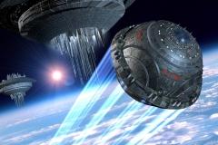 ETSI im Terra-Orbit auf dem Weg nach Shoraz.