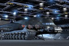 Im Hangar der ETSI befindet sich ein Shift für den Shuttle-Dienst. Er verfügt über eine geheime Tarnfunktion.