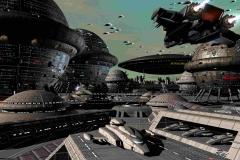 Am Raumhafen auf dem Planeten SCHMIEDE kommt es zu schweren Kämpfen. (C) Raimund Peter