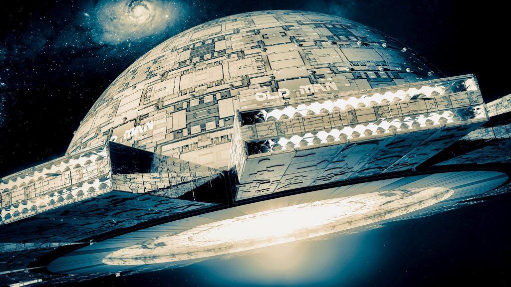 Der gigantische terranische Raumschiffträger OLD MAN (C) Thomas Rabenstein