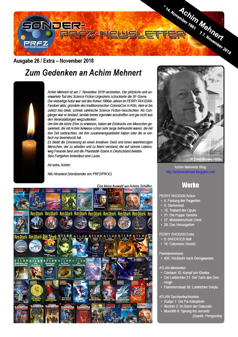 PRFZ Newsletter 26 Sonderausgabe Seite 1 von 7